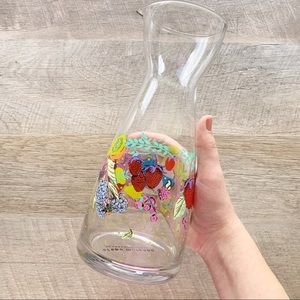Anthropologie Floral Toscana Carafe Pitcher